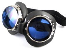 Burning Man metal goggles goggle set pair blue & tinted lenses UV400...  fashion, festival, costume, list, camping, art, outfits, style, tips		2016, diy,	goggles, makeup, women, food, survival, tent		 boots, bike, gift, hat, sculpture, ideas, shelter, men		 photography, wedding, couple, hairstyles, braids, shoes		 mask, tattoo, people, night, girls