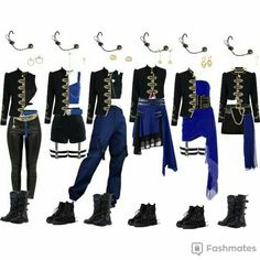 Kpop Fashion Outfits, Stage Outfits, Edgy Outfits, Cute Casual Outfits, Retro Outfits, Dance Outfits, Girl Outfits, Mode Kpop, Bts Inspired Outfits