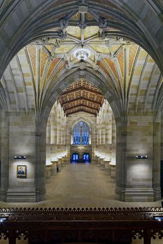 A view of the nave looking back toward the entrance.