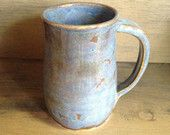 Hand Crafted Blue Pottery Mug