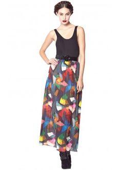 Alice + Olivia Kell Tank Maxi Dress | Een tanktop aan een maxirok naaien? Goed idee!
