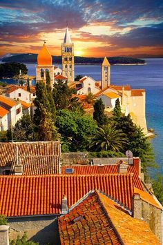 Rab, Croatia. Rab is an island just off the northern Croatian coast in the Adriatic Sea.