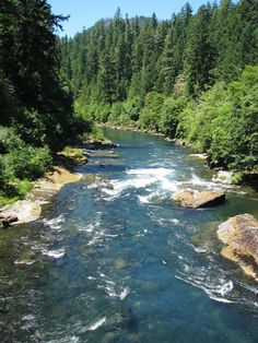 The gorgeous North Umpqua River, Oregon.