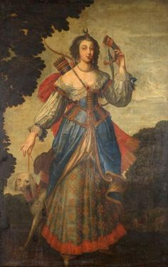 Portrait of a woman as Diana, 17th century, attributed to Claude DERUET (1588-1662)