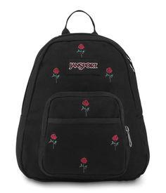 HALF PINT FX MINI BACKPACK | www.jansport.com Mini Backpack, Travel Backpack, Travel Bags, Fashion Backpack, Jansport Superbreak Backpack, Festival Gear, Embroidered Roses, Half Pint, Everyday Bag