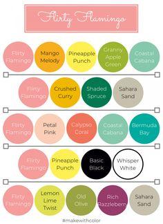 Color of the Week - Flirty Flamingo - Mackenzie Makes