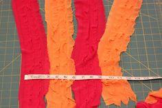 Color Block Ruffle Fabric Skirt