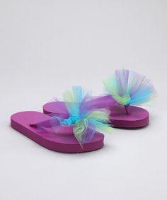 Purple Flip-Flops - Girls