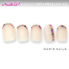 ネイル(No.1550780)|シンプル |ステンドグラス |ビジュー |カラフル |オフィス |デート |フレンチ |春 |夏 |変形フレンチ |ベージュ |ジェルネイル |メタリック |ハンド |チップ |ショート | かわいいネイルのデザインを探すならネイルブック!流行のデザインが丸わかり! Bridal Nails, Wedding Nails, Love Nails, Pretty Nails, Asian Nails, Nail Jewels, Nail Candy, Japanese Nails, Garra