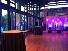 Blue and Purple Lighting, Antique Pendant Bulbs, Stage Lighting, Drapery Lighting | LBJ Wildflower Center | by IntelligentLightingDesign