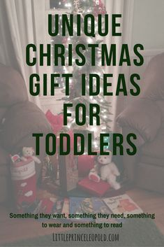 Unique Christmas Gift Ideas for Toddlers-stocking stuffers, clothes, books, and more that toddlers will love to get as gifts!