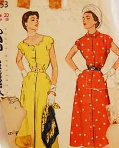 Vintage 1950s Simplicity Misses' Dress by NostalgiaVintage2, $13.50
