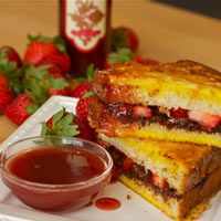 Earth & Vine Provisions Grilled Chocolate Strawberry Sandwich Recipe