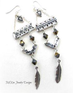 fa4949105a2c Feather beauty. Swarovski crystals