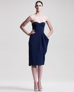 54e9b77b8d067 B1YDP Jil Sander Strapless Bustier Dress Strapless Bustier, Bustier Dress,  Designer Cocktail Dress,