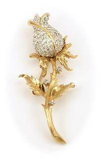 Panetta rose pin $69 http://www.vintagecostumejewelryaddiction.com/vcja3229.html