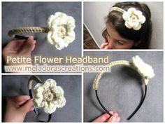 Petite Flower Headband - Free Crochet Pattern