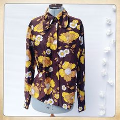 S18/20 VINTAGE ST MICHAEL 1960s Mod Psychedelic Floral Penny Collar Blouse Shirt in Clothes, Shoes & Accessories, Vintage Clothing & Accessories, Women's Vintage Clothing   eBay!
