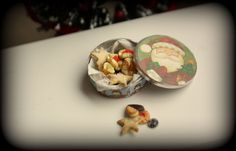 Puppenstube - Puppenküche - Miniatur Essen  -Weihnachtsgebäck   -1:12