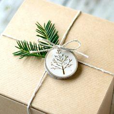Ornements de Noël de branche arbre arbres par TheSittingTree
