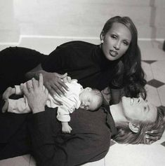Iman, David Bowie and baby
