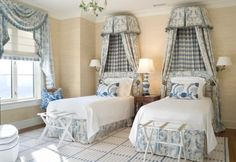 A great way to use toile and check! The Enchanted Home: Designer Spotlight: Joy Tribout