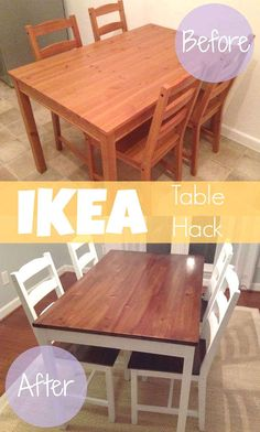 DIY IKEA Hack - The Jokkmokk table group has turned a cool sit-down into a . - Ikea DIY - The best IKEA hacks all in one place Diy Ikea Hacks, Ikea Hack Kids, Ikea Furniture Hacks, Furniture Cleaning, Ikea Furniture Makeover, Furniture Chairs, Furniture Projects, Painted Furniture, Bedroom Furniture