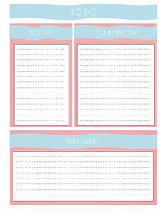 Organize // FREE Printable To Do List
