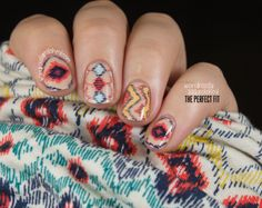 Wondrously Polished: Mani Monday...Deb Shops Aztec Shirt
