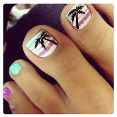 Palm Tree Toe Nail Designs Idea beach toe nail design with palm tree beachnail beach toe Palm Tree Toe Nail Designs. Here is Palm Tree Toe Nail Designs Idea for you. Palm Tree Toe Nail Designs topic for palm tree toenails summertime toes v. Simple Toe Nails, Cute Toe Nails, Toe Nail Art, Love Nails, Pretty Nails, My Nails, Style Nails, Pretty Toes, Nail Design