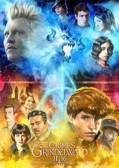 This is such good fan art and I love all of the representation! Gellert Grindelwald, Crimes Of Grindelwald, Hp Harry Potter, Harry Potter Universal, Big Hero 6, Beast Creature, Johnny Depp Movies, Fantastic Beasts And Where, Alternative Movie Posters