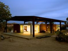desert modern green home