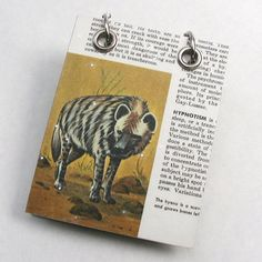Hyena Small Refillable Recycled Notepad by RagAndBoneDesign, $9.00