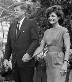 JFK and wife, Jackie Kennedy, hold hands in 1962 close to the time of the 'affair' with Mimi Beardsley Alford, a 19 year old White House intern. They had an affair from the summer of 1962 until November 15, 1963, one week before his assassination. The last time they were together was in the Kennedy Suite at The Carlyle Hotel in NYC.