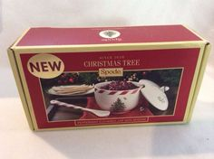 Spode Christmas Tree Peppermint Jar With Spoon Portmeiron New