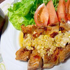 *油淋鶏(揚げてないけど…(゚-゚) *赤出汁 - 69件のもぐもぐ - 晩ご飯 by yukimaru218
