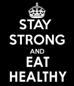 Workout and eat right! Simple living tips!