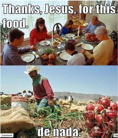 Thanks, Jesus, for the food