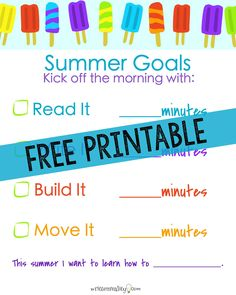 Free Summer Activities Chart ~ Need ideas to keep your kids learning this summer? Here's a free printable summer activities chart to keep your kids active and learning all summer long! Free Summer, Happy Summer, Summer Diy, Summer Crafts, Summer Work, Summer Ideas, Summer 2016, Kids Crafts, Summer Activities For Kids