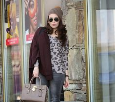 Here's some outfit inspiration from We Shop in Heels... She's wearing our Leopard Print High-Low Sweater! www.ShopTheShoppingBag.com