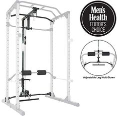 Fitness Reality Super Max Power Cage with Optional LAT Pull-Down Attachment and Adjustable Leg Hold-Down Home Gym Equipment, No Equipment Workout, Back Workout Women, Plate Storage, Biceps And Triceps, Power Rack, Adjustable Legs, Back Exercises, Workout Machines