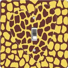 """Rikki KnightTM Giraffe Design Heart on Brown - Single Toggle Light Switch Cover by Rikki Knight. $13.99. Washable. Glossy Finish. Masonite Hardboard Material. 5""""x 5""""x 0.18"""". For use on Walls (screws not included). The Giraffe Design Heart on Brown single toggle light switch cover is made of commercial vibrant quality masonite Hardboard that is cut into 5"""" Square with 1'8"""" thick material. The Beautiful Art Photo Reproduction is printed directly into the switch plate an..."""