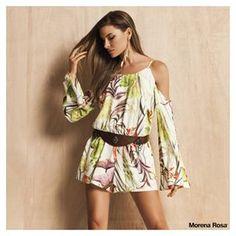 Sabe esse macaquinho estampado LINDO? Então, ele está disponível na nossa loja online. Corram, meninas: www.morenarosa,com.br!