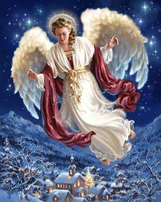 Christmas Angels Among Us. Christmas Angels, Christmas Art, Beautiful Christmas, I Believe In Angels, Angel Pictures, Angels Among Us, Angels In Heaven, Guardian Angels, Angel Art