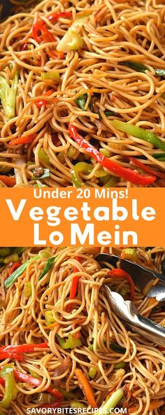 chinese food Best and easy authentic chinese vegetable lo mein recipe. Fix your dinner or lunch under 30 mins with this healthy noodle stir fry with cabbage and more veggies and best lo mein sauce to make this delicious chinese food menu item. Chinese Food Menu, Homemade Chinese Food, Chinese Chicken Recipes, Easy Chinese Recipes, Indian Food Recipes, Asian Recipes, Beef Recipes, Vegetarian Recipes, Cooking Recipes
