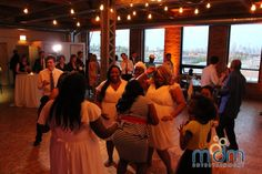 Bridesmaids on the dance floor at Kitchen Chicago and City View Lofts Wedding Chicago Wedding Venues, Unique Wedding Venues, Loft Wedding, Lofts, Bridesmaids, Floor, Entertaining, Dance, City