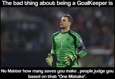 Goalkeeper problems.