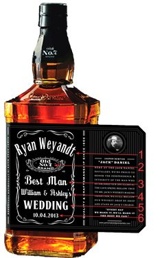 Personalized Jack Daniel's Bottles @Megan Ward Ward Jacob if makers could do this for Justin's groomsmen