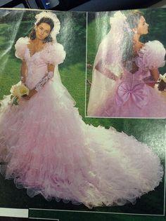 This was my wedding gown! Vintage San Martin. Still my most favorite dress ever!!