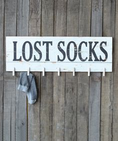 Lost Socks Wall Plaque #zulily *Cute